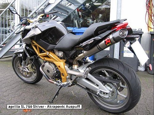 aprilia shiver akrapovic motorcycles super heavy bikes. Black Bedroom Furniture Sets. Home Design Ideas